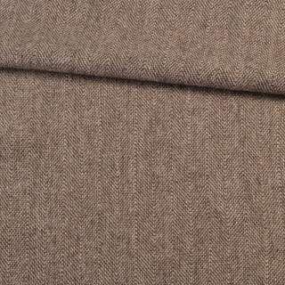 Твід ялинка 2,5 см чорно коричнево-пісочний, ш.146