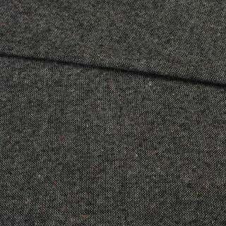 Твід харріс сіро-чорний темний з червоно-жовтими вкрапленнями, ш.150
