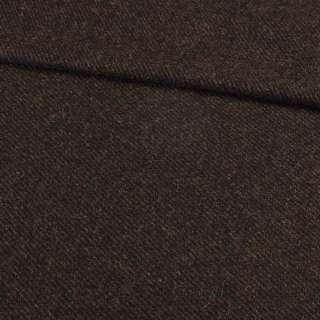 Твід коверкот коричнево-чорний, ш.150