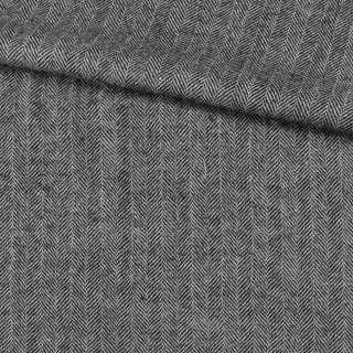 Твід ялинка 2см чорно-білий, ш.158