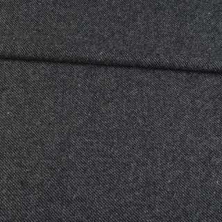Твид диагональ серо-черный, ш.150