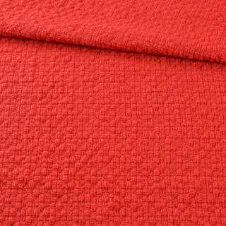 Рогожка рельефная в кубики красная, ш.144