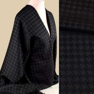Жаккард черный с шениллом гусиная лапка ш.150