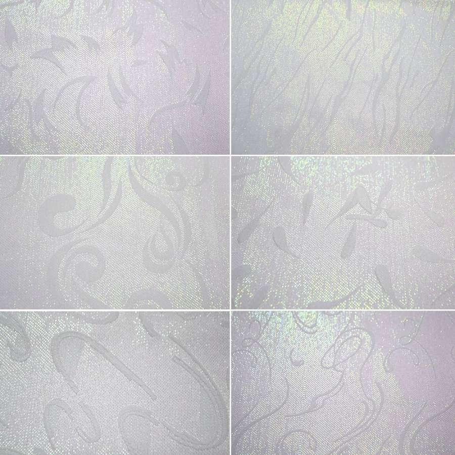 Жаккард костюмний білий з люрексом в завитки ш.145