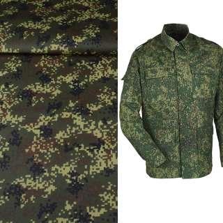 Тканина камуфляжна темно-зелена з коричнево-чорним ш.150