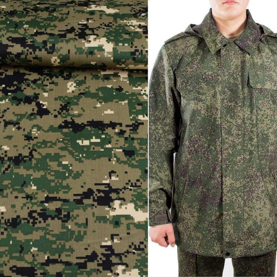 ткань камуфляжная св/болотная с зелено-черным ш.150