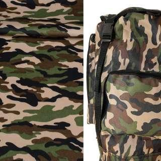 ткань камуфляжная бежевая с зелено-черным ш.150