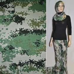 Трикотаж серо-зелено-черный камуфляж ш.155