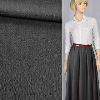 Ткань костюмная в мелкую елочку черно-серая, ш.145