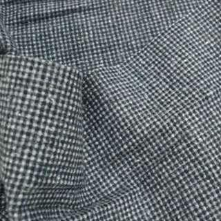 Тканина костюмна в дрібну сіро-молочну клітку ш. 150