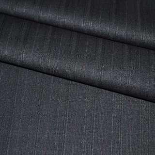 Тканина костюмна чорна в смужку, ш.155