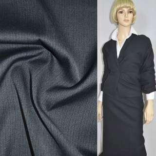 Тканина костюмна сіро-синя однотонна, ш.150