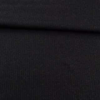 Тканина костюмна чорна в вузьку смужку, ш.150