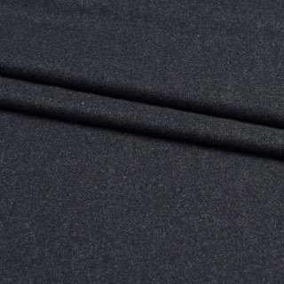 Шерсть костюмная черная в белые ворсинки, ш.150