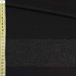 Кашемир черный, темно-серая полоска, раппорт 86см, ш.153