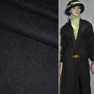 Ткань костюм. гладкокраш. черная  ш.155