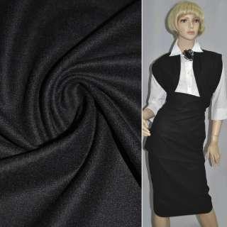 Ткань костюм. гладкокраш. черная  ш.153