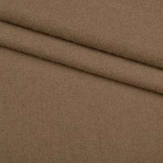 Тканина костюмна гладкокрашеная бежево-коричнева ш.150