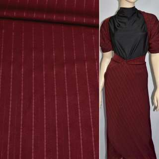Тканина костюмна бордова з люрексом