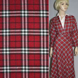 Шотландка красная с черно-белым ш.145