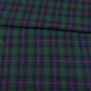 Шотландка синяя в зелено-красную клетку ш.144