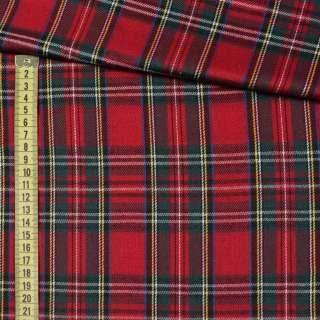Шотландка червоно - зелена + біла клітка ш.145
