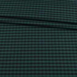Шотландка зеленая в черную клетку ш.150