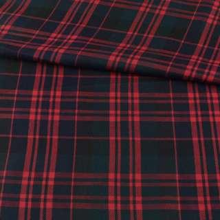 Шотландка черно-зеленая в красную клетку ш.144