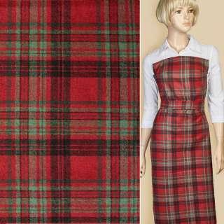 Шотландка червона в чорно-зелену клітку ш.150