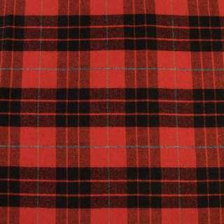 Шотландка красная в черно-серую клетку, ш.150