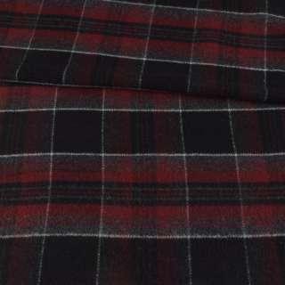 Шотландка черная в бордово-серую клетку ш.155