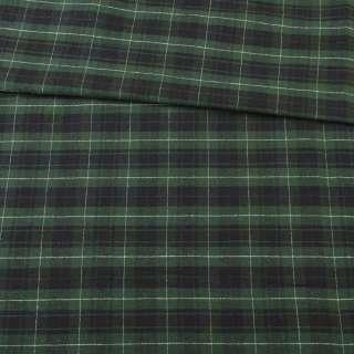 Шотландка зелено-черная в белую клетку, ш.142