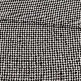 Шотландка в черно-белую мелкую клетку, ш.145