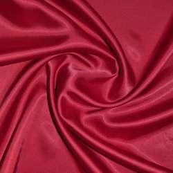 Коттон-атлас темно-красный (оттенок вишневый) ш.150