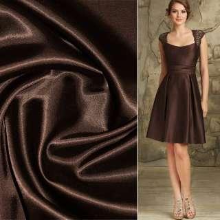 коттон-атлас темно-коричневый, ш.150 см.