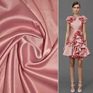 коттон-атлас, однотонный розово-серый ш.150