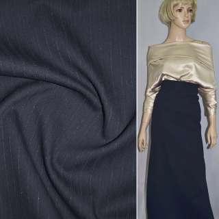 коттон темно-синий рельефный, шир.150 см