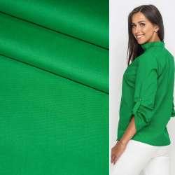 Коттон стрейч зеленый ш.120