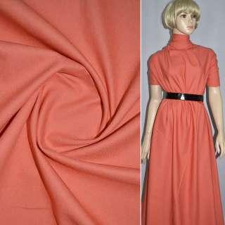 коттон стр. оранжево-красный однотонный ш.150