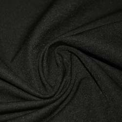 Коттон стрейч костюмный черный с коричневым оттенком ш.150