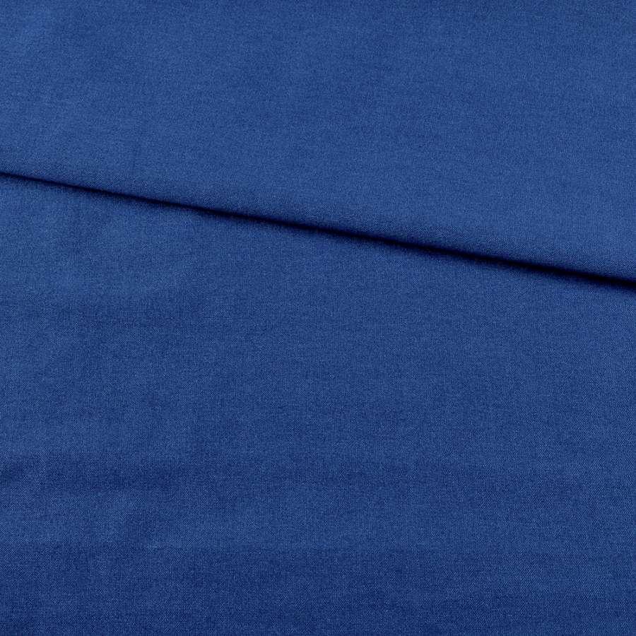 Коттон стрейч костюмный ультрамарин ш.150