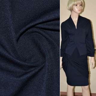 Коттон стрейч костюмный синий темный ш.150