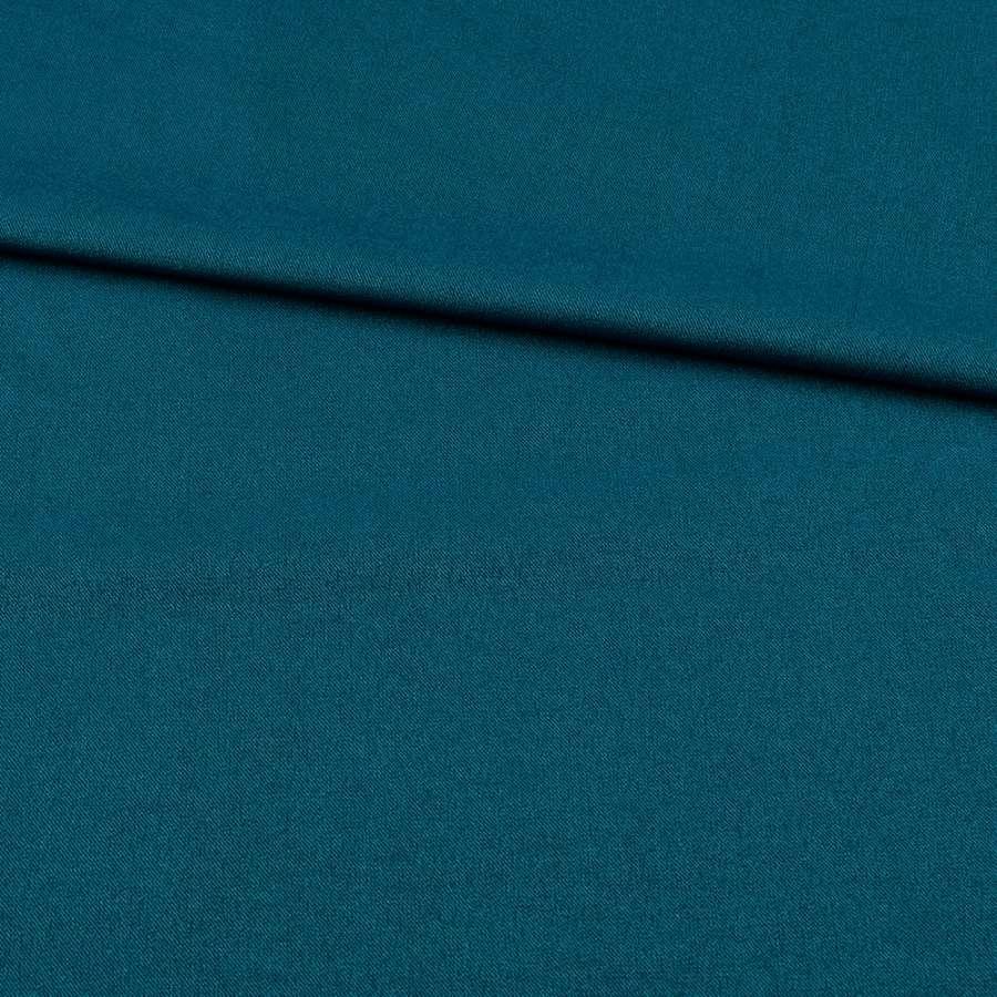 Коттон стрейч костюмный морской волны ш.150