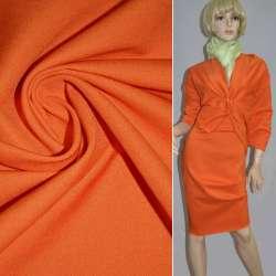 Коттон стрейч костюмный оранжевый ш.150