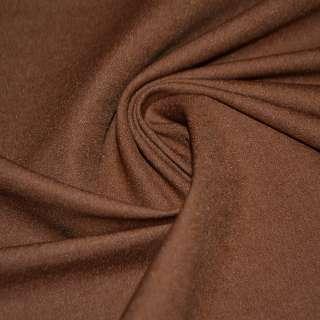 Коттон стрейч костюмный коричнево-рыжий ш.150