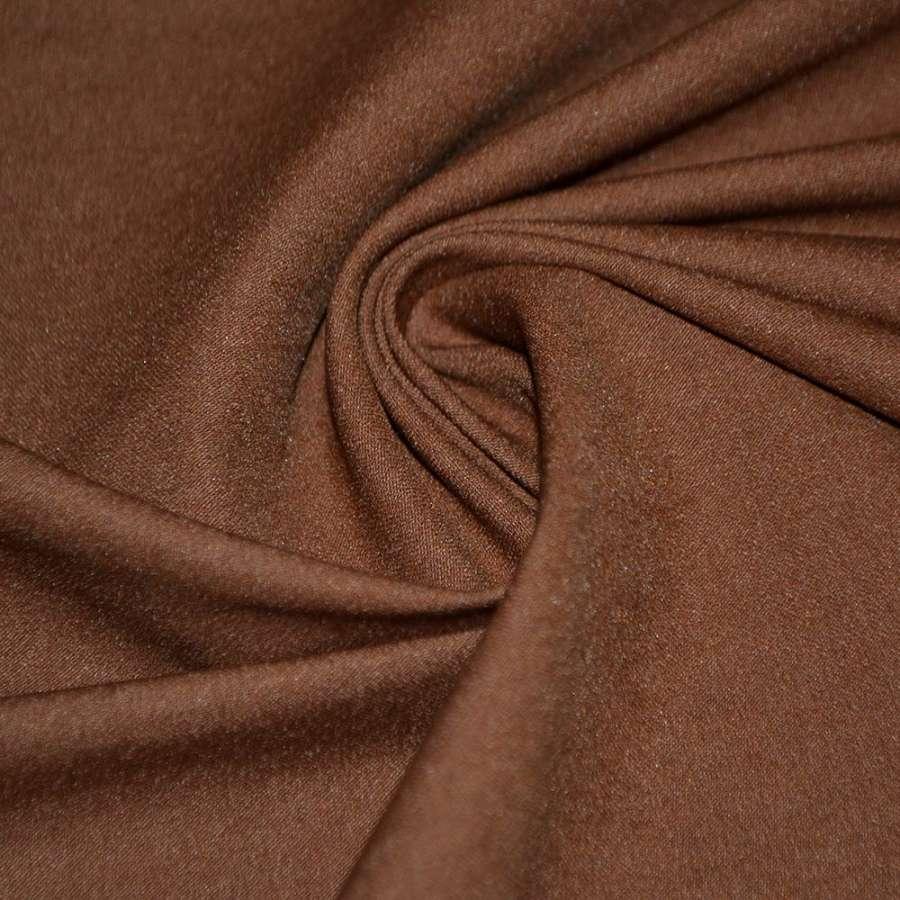 Котон стрейч костюмний коричнево-рудий ш.150