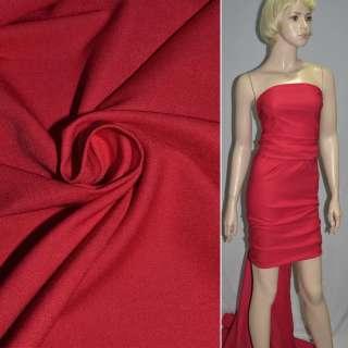 коттон стрейч. костюм. красный-алый ш.150