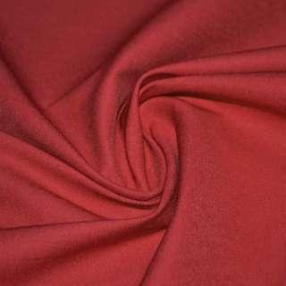 Коттон стрейч костюмный красный светлый ш.150