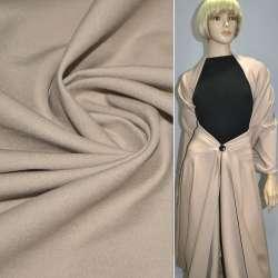 Коттон стрейч костюмный песочный ш.150
