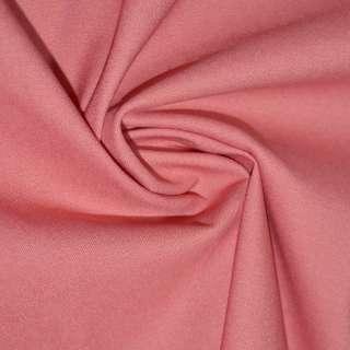 Коттон стрейч костюмный кораллово-розовый ш.150